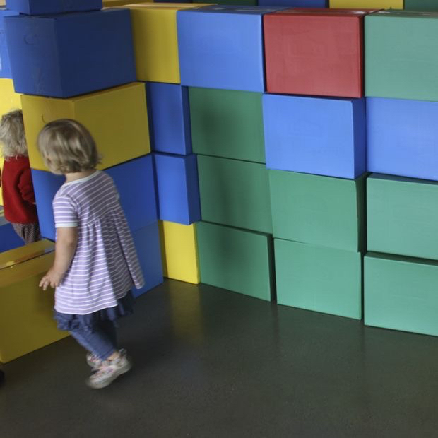 Picture of Giant Cardboard LEGO Blocks