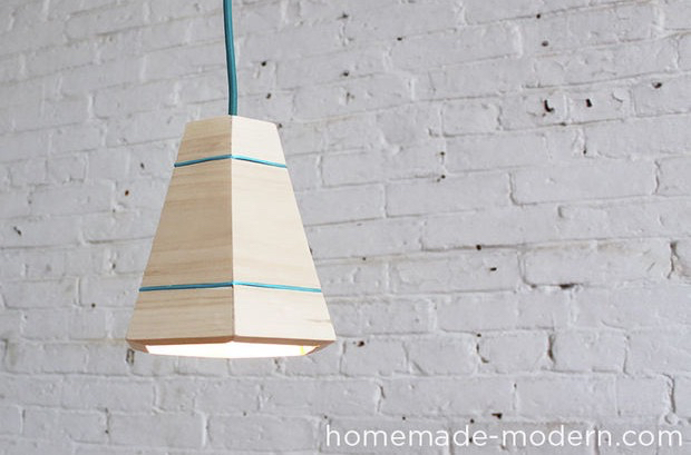 Picture of HomeMade Modern DIY Wood Pendant Lamp