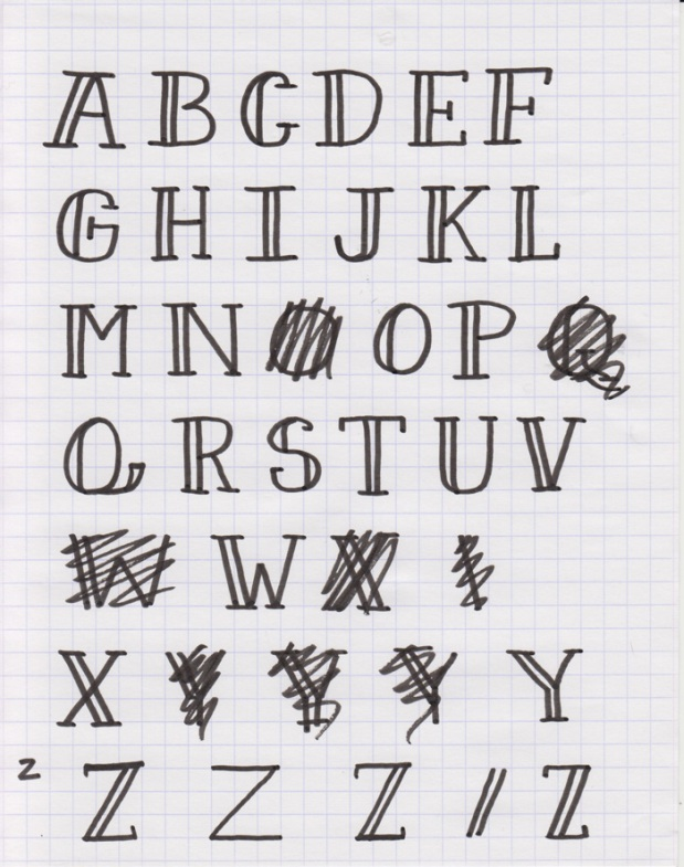 Sketch each glyph of your font - How to create your own font using Illustrator and Glyphs app - HelloBrio.com